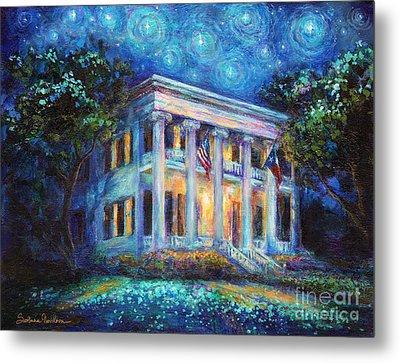 Texas Governor Mansion Painting Metal Print by Svetlana Novikova