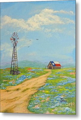 Metal Print featuring the painting Texas High Sky by Jimmie Bartlett