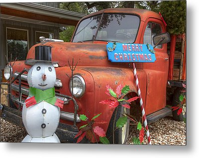 Texas Hill Country Images - Christmas Wishes From Wimberley Tex Metal Print by Rob Greebon