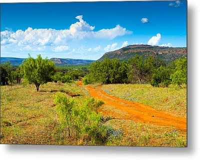 Texas Hill Country Red Dirt Road Metal Print