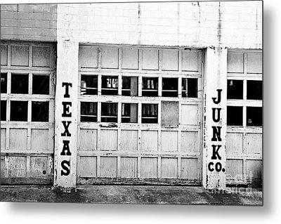 Texas Junk Co. Metal Print by Scott Pellegrin