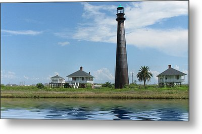 Metal Print featuring the photograph Texas Lighthouse by Cecil Fuselier