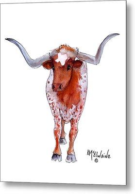 Texas Longhorn Metal Print by Kathleen McElwaine