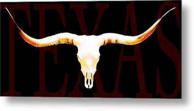 Texas Longhorns By Sharon Cummings Metal Print by Sharon Cummings