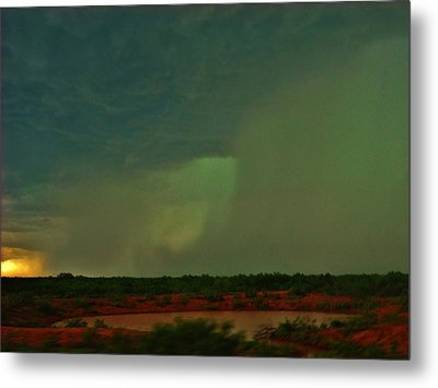 Metal Print featuring the photograph Texas Microburst by Ed Sweeney
