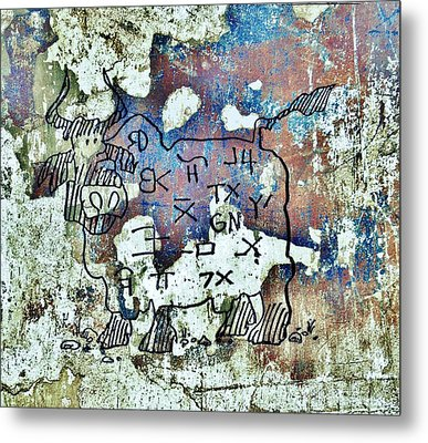 Texas Petroglyph Metal Print by Larry Campbell