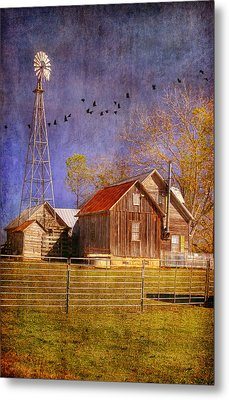 Texas Ranch Metal Print by Joan Bertucci