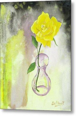 Texas Rose Metal Print