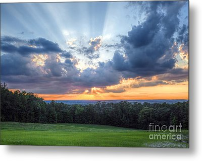 Texas Sunset As Seen From Louisiana Metal Print by D Wallace