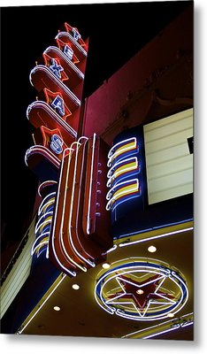 Metal Print featuring the photograph Texas Theatre Marquee by John Babis