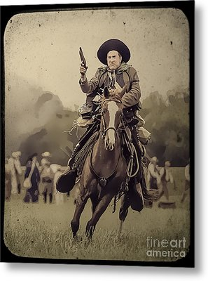 Texican Cavalry Metal Print by Kim Henderson