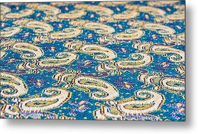 Textile Pattern Metal Print by Tom Gowanlock