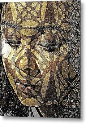 Texture And Patterns Metal Print by Jodie Marie Anne Richardson Traugott          aka jm-ART