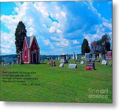 Metal Print featuring the photograph Fryburg Cemetery by Gena Weiser