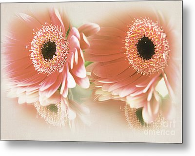 Textured Floral Artwork Metal Print by Eden Baed