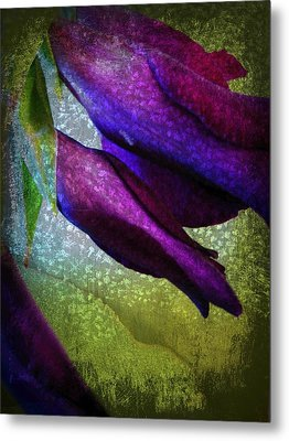Textured Gladiola Buds Metal Print by Shirley Sirois