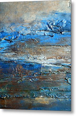 Textured Original Abstract Dune Metal Print