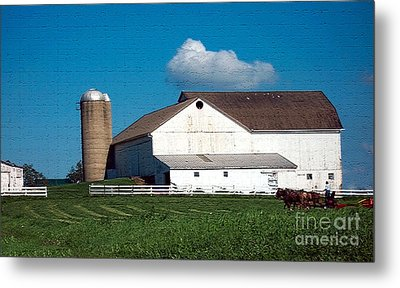 Metal Print featuring the photograph Textured - Plowing The Field by Gena Weiser