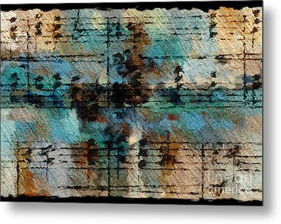 Metal Print featuring the digital art Textured Turquoise by Lon Chaffin