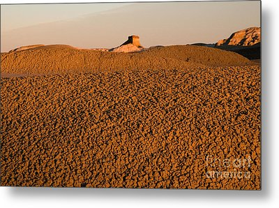 Textures In The Bisti Wilderness Metal Print by Vivian Christopher