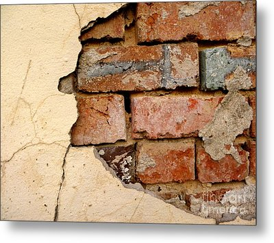 Textures Of Disrepair Metal Print