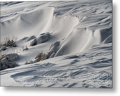 Textures Of Snow Metal Print by Edward R Wisell