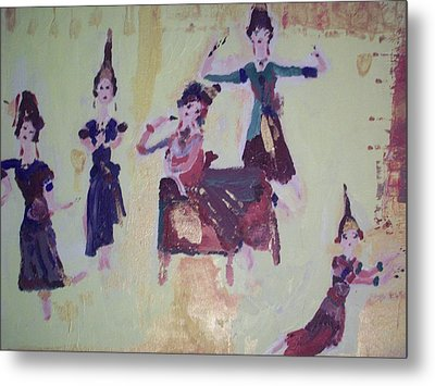 Metal Print featuring the painting Thai Dance by Judith Desrosiers
