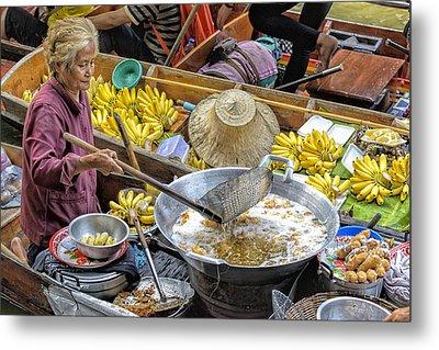 Thai Floating Market No 2 - Deep Fried Bananas Metal Print by Paul W Sharpe Aka Wizard of Wonders
