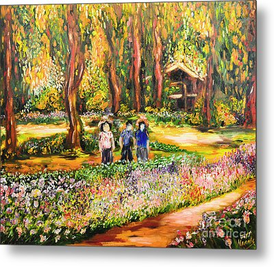 Thai Flower Garden Metal Print