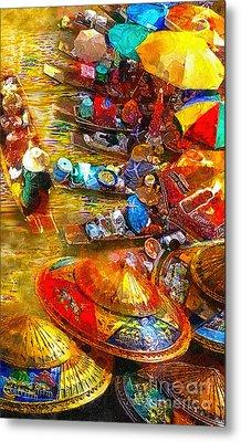 Thai Market Day Metal Print by Mo T