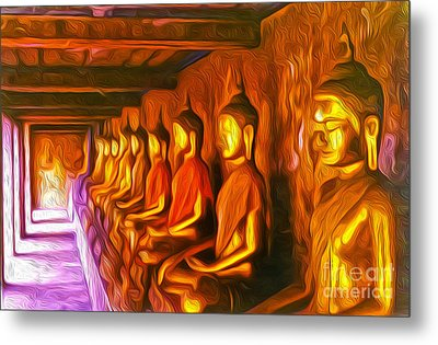 Thailand Buddhas Metal Print by Gregory Dyer