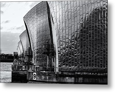 Thames Barrier Metal Print