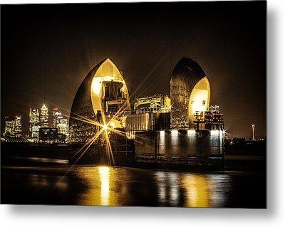 Thames Flood Barrier Metal Print