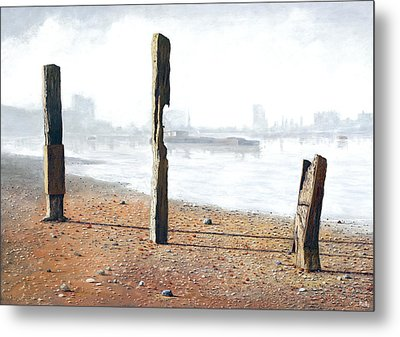 Thames Sentinels Metal Print by Eric Bellis