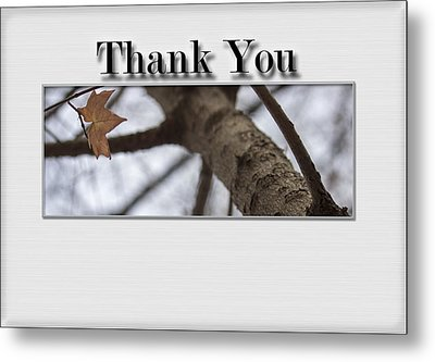 Thank You Card - Saving The Last Moment Metal Print by Becca Buecher
