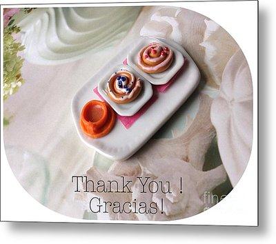 Thank You Card  Metal Print by Reina Resto