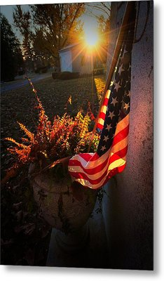 Metal Print featuring the photograph Thank You For Serving by Robert McCubbin