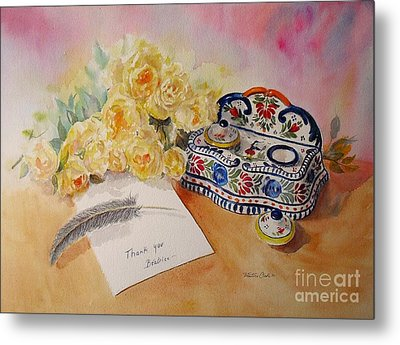 Metal Print featuring the painting Thank You From Beatrice by Beatrice Cloake