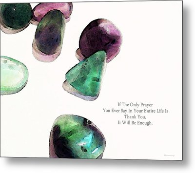 Thank You - Gratitude Rocks By Sharon Cummings Metal Print by Sharon Cummings
