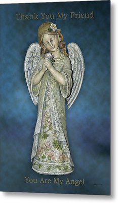 Thank You My Angel Metal Print by Thomas Woolworth