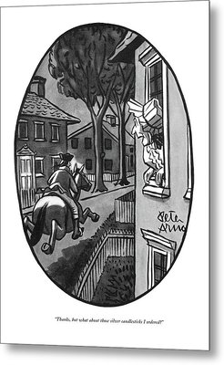Thanks, But What About Those Silver Candlesticks Metal Print by Peter Arno