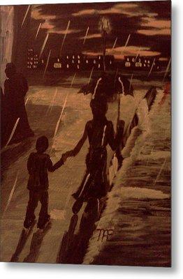 That  Rainy Night  Metal Print by Renee McKnight