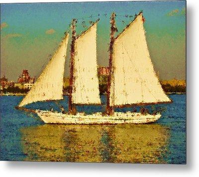 That Ship Metal Print by Alice Gipson
