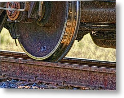 That Train Just Keeps A Rollin Metal Print by Gary Holmes
