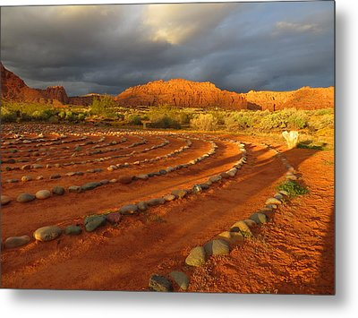Metal Print featuring the photograph St George, Utah by Jean Marie Maggi