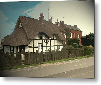 Thatch Cottage,  Coton In The Clay, Perfectly Presented Metal Print by Litz Collection