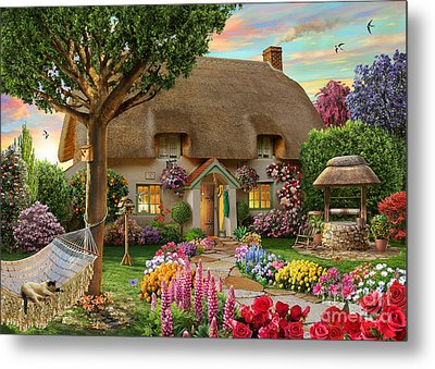 Thatched Cottage Metal Print by Adrian Chesterman