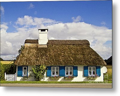 Thatched Country House Metal Print by Heiko Koehrer-Wagner