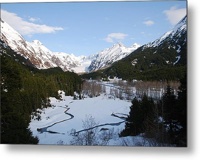 Thawing Mountain Stream Metal Print
