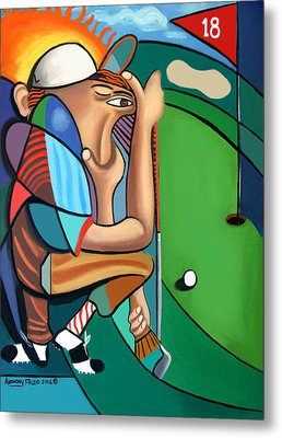 The 18th Hole Metal Print by Anthony Falbo